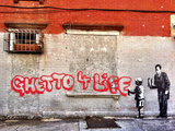 Ghetto for LIfe Giclee-trykk av  Banksy