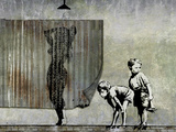 Shower Peepers Giclee-trykk av  Banksy