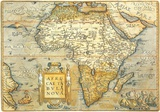 Africae Ta Bula Nova- Antique Map Of Africa Kunstdrucke