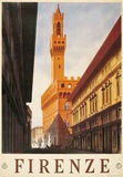 Signoria Palace, Firenze Italy- Vintage Travel Poster Poster