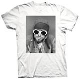 Kurt Cobain- White Sunglasses Photo Vêtement