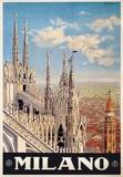 Duomo, Milano Italy- Vintage Travel Poster Kunstdrucke