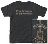 Bruce Springsteen- Black Motorcycle Guitars Front/Back) T-Shirts