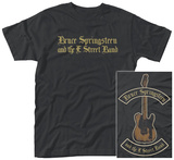 Bruce Springsteen- Black Motorcycle Guitars Front/Back) T-Shirts