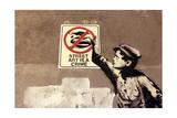 Street Art is a Crime Giclée-Druck von  Banksy