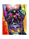Doberman Giclee Print by Dean Russo