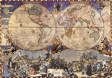 Emisferi (Hemispheres)- Antique World Map Kuvia