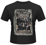Hollywood Undead- Distressed Band Block Photo T-Shirts