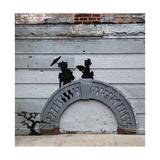 NYC Japanese Bridge Giclee-trykk av  Banksy