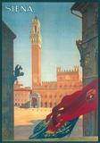 Siena- Vintage Travel Poster Kunstdrucke