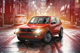 VW- Golf GTI MK1 Kunstdruck