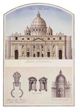 S. Pietro (St. Peter'S Basilica In Vatican) Architectural Details Posters