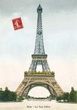 Tour Eiffel (Eiffel Tower) Vintage Kunstdrucke