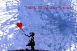 128 Balloon Girl Giclee Print by  Banksy
