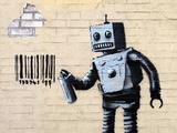 Robot Giclée-tryk af  Banksy