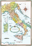 Regions Of Italy Map Prints
