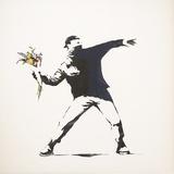 L'amour est dans l'air Reproduction procédé giclée par  Banksy