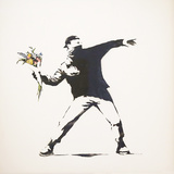 Love Is in the Air Giclee Print by  Banksy