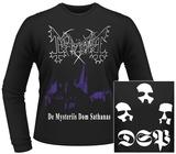 Long Sleeve: Mayhem- De Mysteriis Dom Sathanas (Front/Back) T-shirt a maniche lunghe