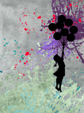 Flying Balloon Girl Reproduction procédé giclée par  Banksy