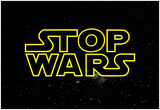 STOP WARS - Gold Pôsters