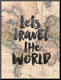 Lets Travel The World BW Mounted Print by Brett Wilson