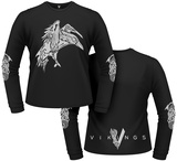 Long Sleeve: Vikings- Celtic Raven (Front/Back) T-shirts manches longues