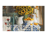 Calico with Sunflowers Póster por Heide Presse