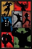 Avengers - Simplistic Grid Poster