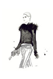 Chanel in the Winter Affiches par Jessica Durrant