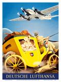 Deutsche Lufthansa German Airways - Junkers JU-52 Aircraft Affischer av Gayle Ullman