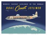 de Havilland Comet Jetliner - BOAC (British Overseas Airways Corporation) Posters tekijänä  Pacifica Island Art