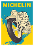 Michelin Man (Bibendum) - Motorbike Tires Poster von  Pacifica Island Art