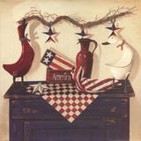 America Poster von Linda Lane