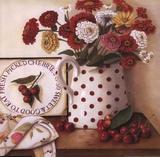 Fresh Picked Cherries Art par I. Lane