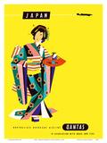 Japan - Qantas Airways - Japanese Geisha Kunstdrucke von Harry Rogers