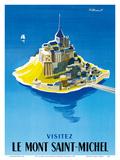 Visit Le Mont Saint-Michel - Normandy, France Posters tekijänä Bernard Villemot