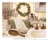 Cassondra's Powder Room Kunstdrucke von Linda Lane