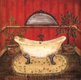 Bath in Red II Posters by Grace Pullen