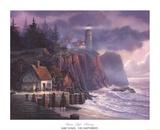 Ombre et lumière au port Poster par Michael Humphries