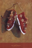 Sioux Quilled Moccasins Prints by Marty LeMessurier