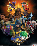 Lego Batman- Heroes And Villians Plakater
