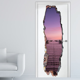 View Through the Wall - Serenity Door Wallpaper Mural Mural de papel de parede