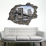 View Through the Wall - Brooklyn Bridge Autocollant mural