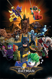 Lego Batman- Heroes And Villians Print