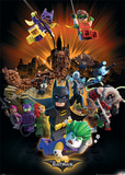 Lego Batman- Heroes And Villians Poster