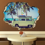 View Through the Wall - Camper Van Muursticker