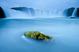Long Exposure Of Godafoss Waterfall, Iceland Photographic Print by Inaki Relanzon
