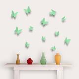 3D Butterflies - Apple Green Adesivo de parede