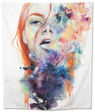 This Thing Called Art Is Really Dangerous Tapestry by Agnes Cecile